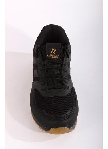 Rodrigo Erkek Siyah Şeritli Spor Ayakkabı Siyah